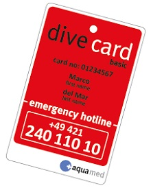 Aquamed Dive Card