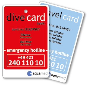 Aquamed DiveCard und Travel Card